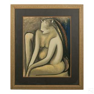 Wifredo Lam (1902-1982) Modern Abstract Nude Litho