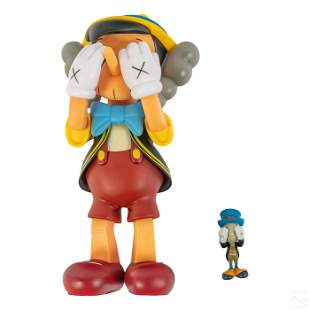 Disney Medicom Pinocchio Jiminy Cricket after KAWS