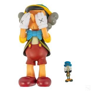 Disney KAWS Medicom Pinocchio & Jiminy Cricket Toy