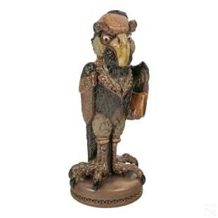 "Andrew Hull Grotesque Bird Charles Dickens 13"" Jar"