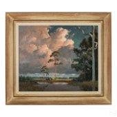 Albert Backus 1906-1990 Florida Wetlands Painting