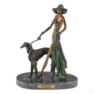 Bronze Art Deco Figural Sculpture after Chiparus