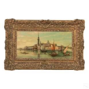 Edward Pritchett 19th Cen Venice Seascape Painting