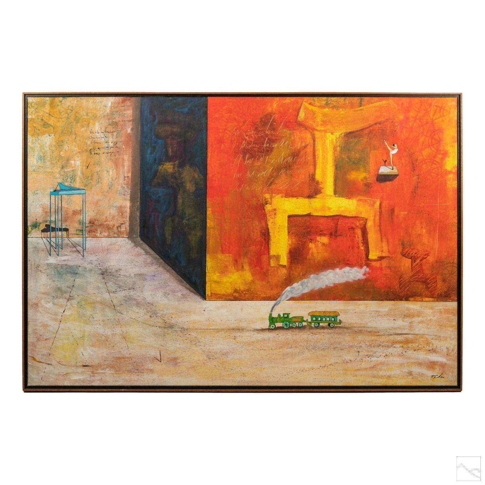 Roberto Puente b1960 Surrealist Landscape Painting