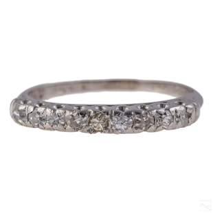 Platinum .15 CTTW Antique Diamond Anniversary Ring
