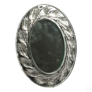 Lalique French Crystal Boutons Roses Table Mirror