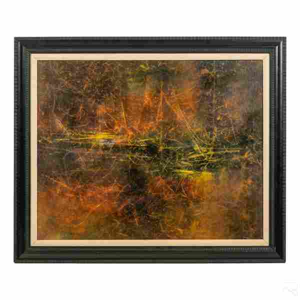 Paul Nonay 1922-1994 Modern Abstract Oil Painting