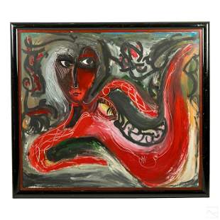 Camilo Franqui (b1961) Cuban Abstract Oil Painting