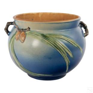Roseville Pottery Blue Pinecone #632-12 Jardiniere