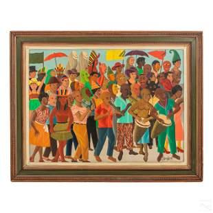 Philippe Auguste 1908-1989 Haiti Folk Art Painting