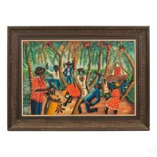 Wilmino Domond 1925-2016 Haitian Folk Art Painting