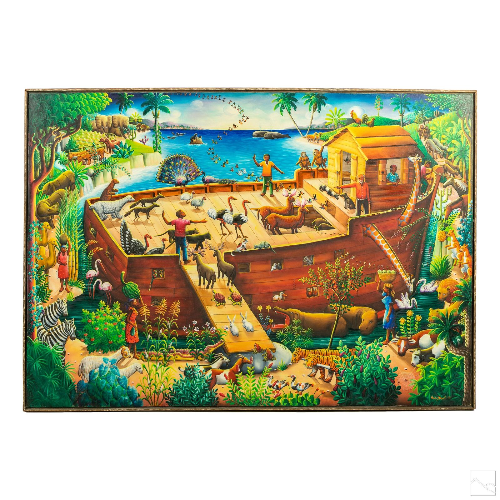 Andre Normil (1934-2014) Haitian Folk Art Painting