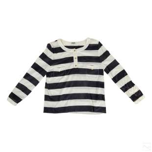 Chanel Boutique Vintage Long Sleeve Striped Shirt