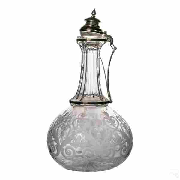 Antique Tiffany & Co Sterling Crystal Decanter