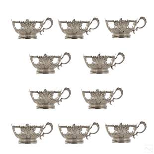 Tiffany & Co. Sterling Silver Cup Holders Set 622g