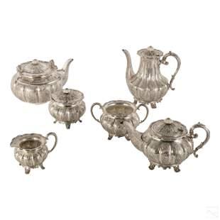 Antique Sheffield Sterling Silver Tea Set 4982g