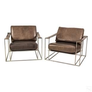 Milo Baughman for Thayer Coggin Modern Cube Chairs
