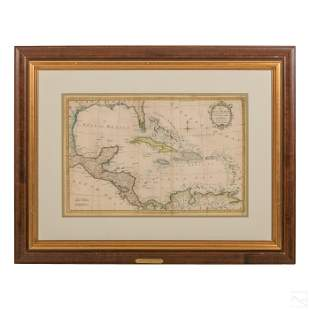 18th Century Florida Gulf Of Mexico Caribbean Map