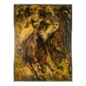 Edna Glaubman 1919-1986 Race Horse Oil Painting
