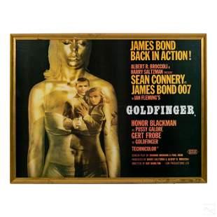 James Bond Sean Connery Goldfinger Movie Poster