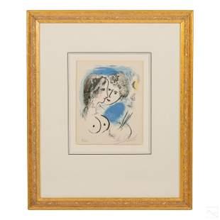 Marc Chagall 1887-1985 Signed LE La Palette Litho