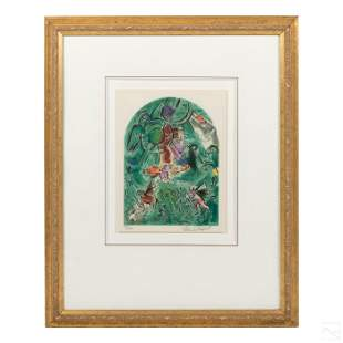 Marc Chagall;; 1887-1985 Signed Tribe Of God Litho