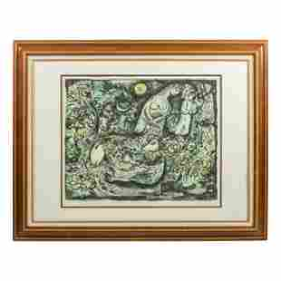 Marc Chagall 1887-1985 Signed Abstract Lithograph