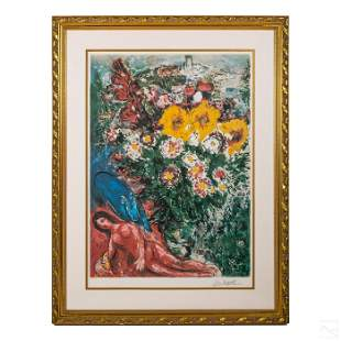 Still Life Expressionist Litho after Marc Chagall