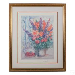 Bouquet of Flowers Lithograph after Marc Chagall