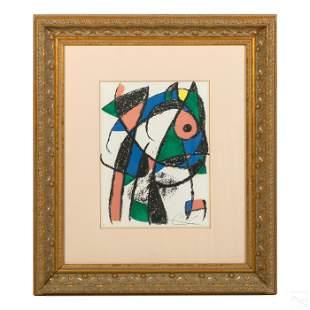 Modern Abstract Framed Lithograph after Joan Miro