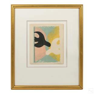 Modern Birds Color Lithograph after George Braque