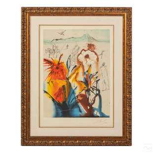 """""""The Mystery Of Diamond Head"""" Litho, after S. Dali"""