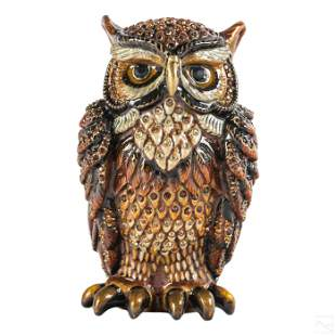 Jay Strongwater Jeweled LE Owl Figurine with Box