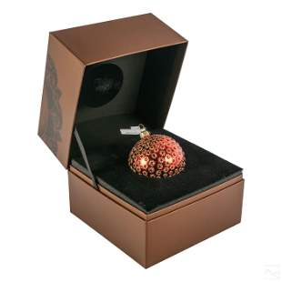Jay Strongwater Jeweled Christmas Ornament and Box
