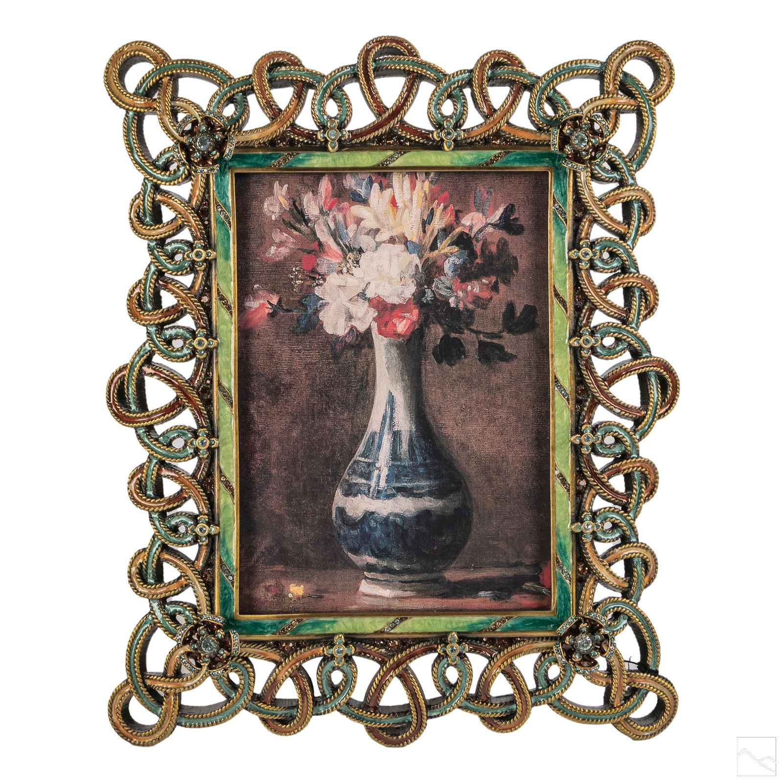 Jay Strongwater Enameled Jeweled 5x7 Picture Frame