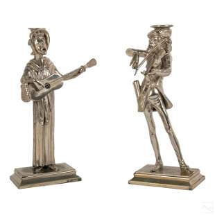 Reed & Barton Figural Silver Plate Candlesticks