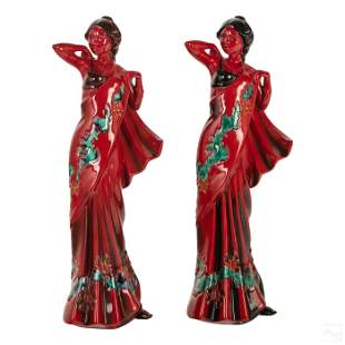 Royal Doulton Flambe Eastern Grace Dancer Figures