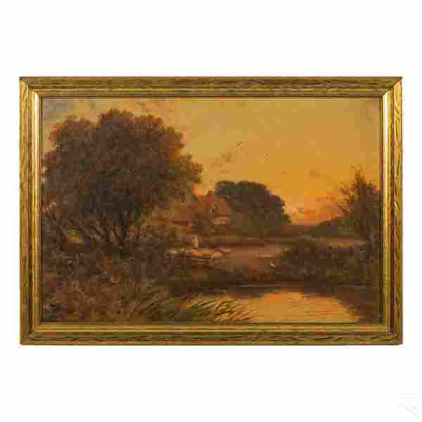 Jenson 18th Century Figural Landscape Oil Painting