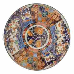 Japanese Imari Porcelain Charger Centerpiece Plate