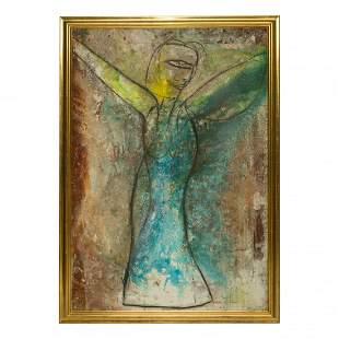 Jamali (American, b.1944) Modernist Nude Painting