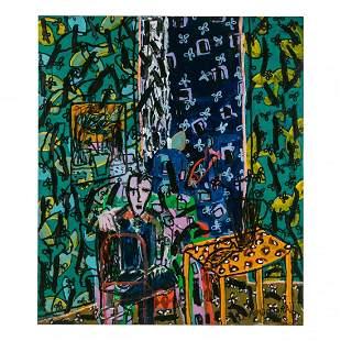 Yehuda Porbochrai b.1949 Modern Abstract Painting