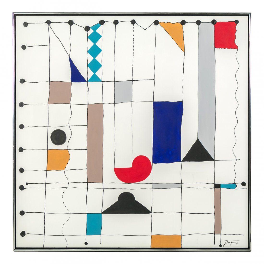 Boettner Abstract Alexander Calder Homage Painting