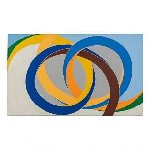 Modernist Homage to Frank Stella Abstract Painting