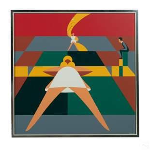 John Vassos (1898-1985) Art Deco Figural Painting