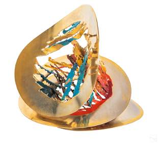 Micah Curtis Modern Abstract Mixed Metal Sculpture