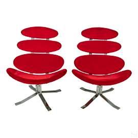 Poul Volther Modern Erik Jorgensen Corona Chairs