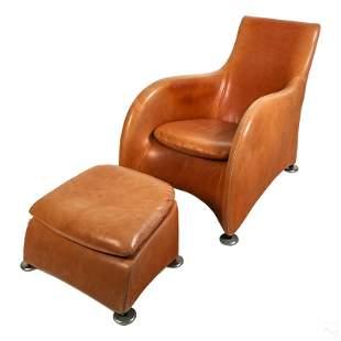 Gerard Van Den Berg Montis Leather Chair & Ottoman
