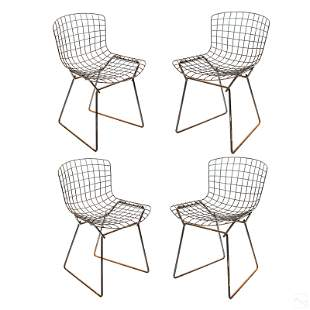 Harry Bertoia for Knoll 4 Modern Side Chairs Set