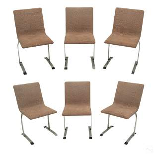 Giorgio Saporiti Italian Set of 6 Modern Chairs