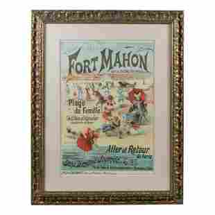 Fort Mahon Art Nouveau French Tourism Lithograph